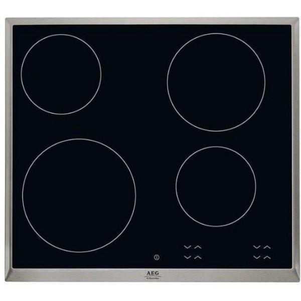 AEG HK624000XB αυτόνομη κεραμική εστία Ιnox πλαίσιο