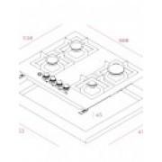 Teka EFX 60 4G AI AL Αυτόνομη Εστία Αερίου (H.293.GIN)