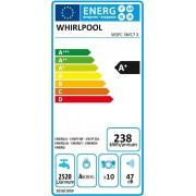 Whirlpool WSFC 3M17 X πλυντήριο πιάτων Inox 45cm A+