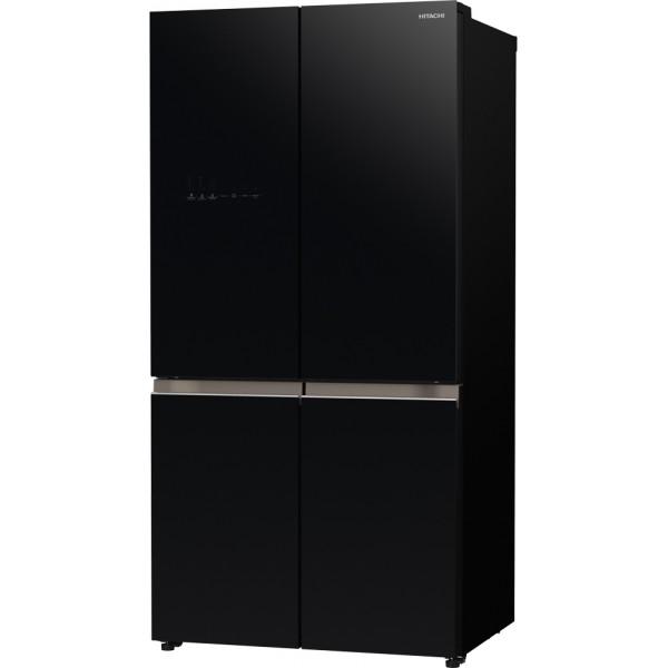 HITACHI R-WB640VRU0 Ψυγείο Ντουλάπα Side by Side Total NoFrost Black Glass A++