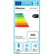 Hisense  RS670N4BC2 ψυγείο ντουλάπα Inox A++